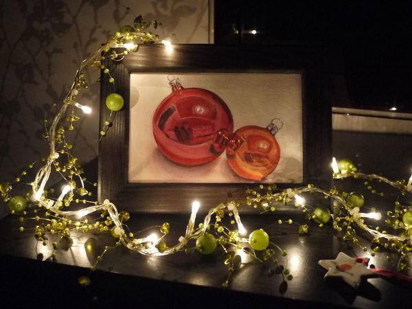 Пишем новогодние шары маслом | Ярмарка Мастеров - ручная работа, handmade