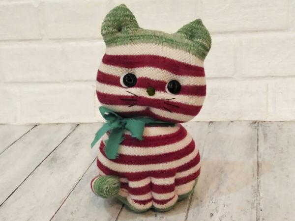 Как сшить котёнка из носков | Ярмарка Мастеров - ручная работа, handmade
