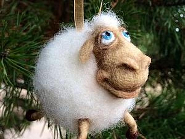 Мастер-класс по валянию овечки к Новому году | Ярмарка Мастеров - ручная работа, handmade
