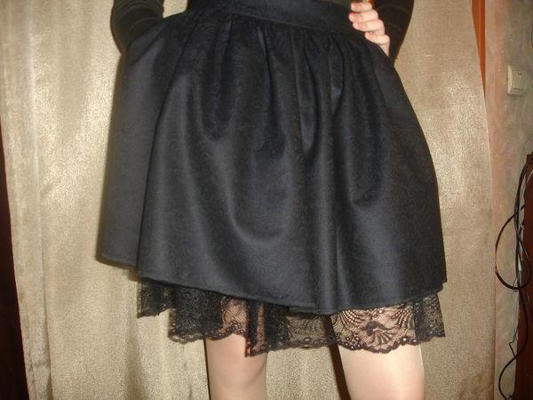 Школьная юбка с кружевом своими руками