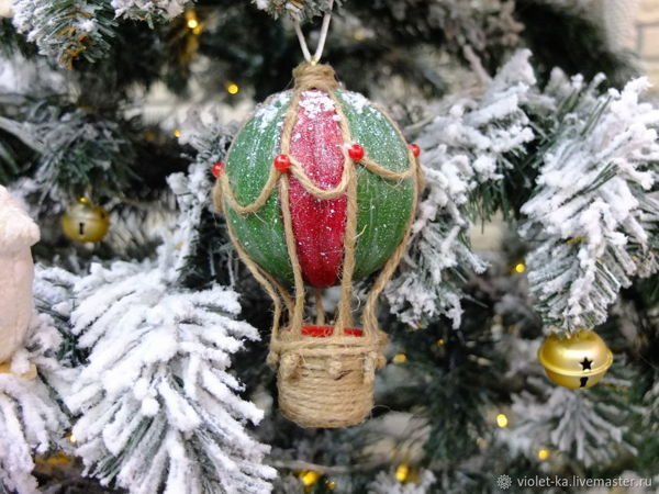 Make Christmas Tree Decor ''Air Balloon'' | Livemaster - handmade