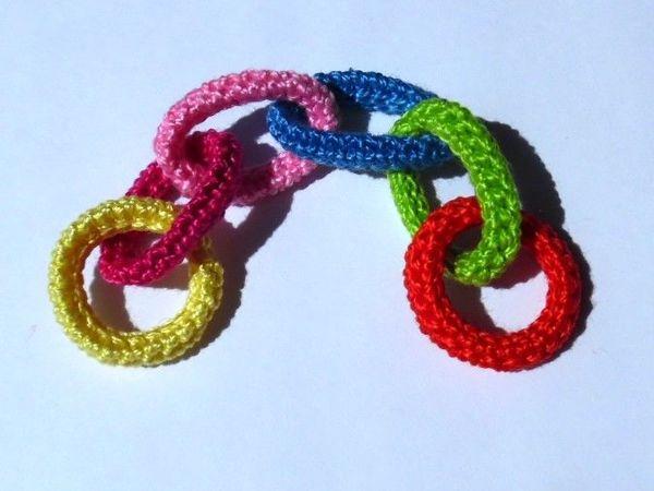 Вяжем цепочку крючком | Ярмарка Мастеров - ручная работа, handmade