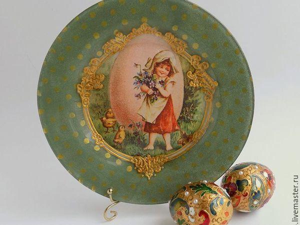 Простая в исполнении, но эффектная пасхальная тарелка | Ярмарка Мастеров - ручная работа, handmade