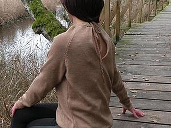оригинальный вязаный свитер | Ярмарка Мастеров - ручная работа, handmade