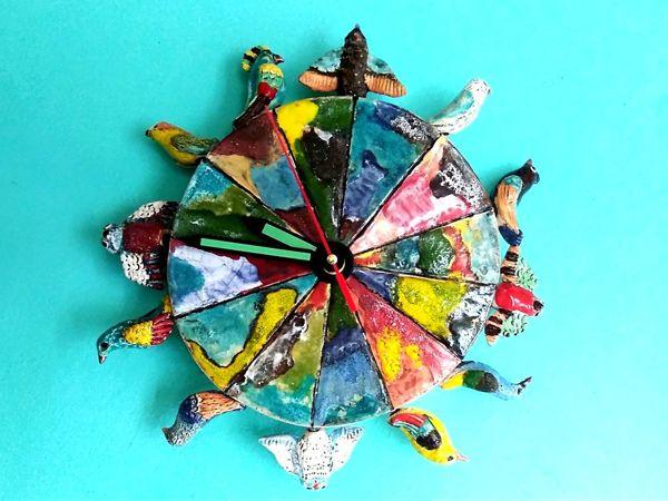 День радости. Новые часы с птицами | Ярмарка Мастеров - ручная работа, handmade