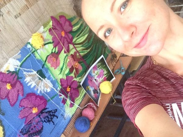 Ткём гобелен  «Яркое лето» | Ярмарка Мастеров - ручная работа, handmade