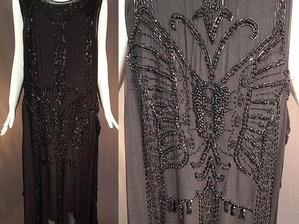 Вечернее платье стиля Арт-Деко 1920-х годов с вышивкой бисером | Ярмарка Мастеров - ручная работа, handmade