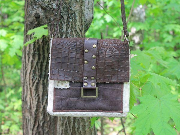 Кожаная сумочка в стиле Вестерн   Ярмарка Мастеров - ручная работа, handmade