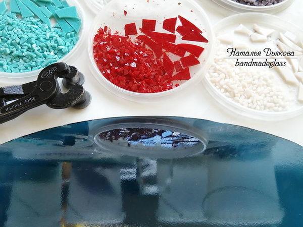 Создаем из стеклянной крошки настенное панно в технике фьюзинг | Ярмарка Мастеров - ручная работа, handmade