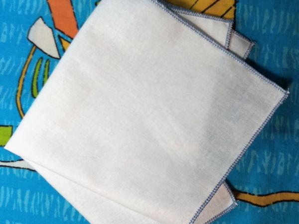 Обрабатываем носовой платок ролевым швом | Ярмарка Мастеров - ручная работа, handmade