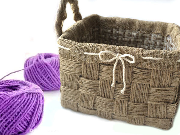 Weaving Jute Basket with your own Hands | Livemaster - handmade
