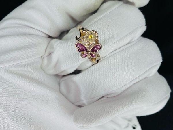 Серебряное кольцо Бабочка с эмалью   Ярмарка Мастеров - ручная работа, handmade