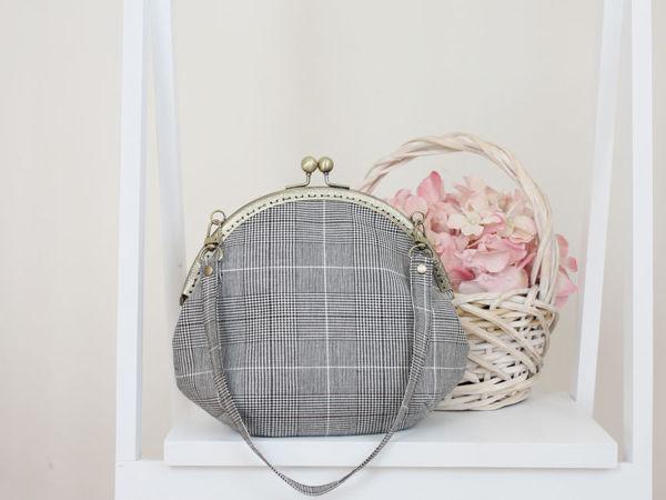 Шьем сумку с круглым пришивным фермуаром | Ярмарка Мастеров - ручная работа, handmade