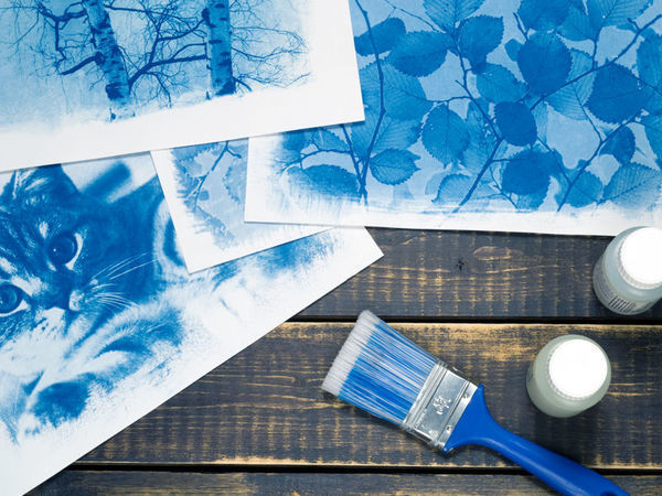 Cyanotype: Printing Photos on Watercolor Paper | Livemaster - hecho a mano - handmade