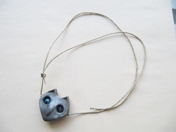 простейшая застёжка для подвесок - скользящий узелок   Ярмарка Мастеров - ручная работа, handmade