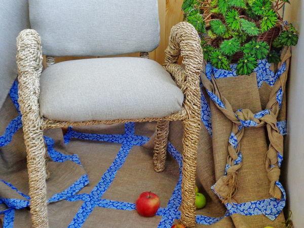Реставрируем стул в технике спирального плетения из бумажной лозы   Ярмарка Мастеров - ручная работа, handmade