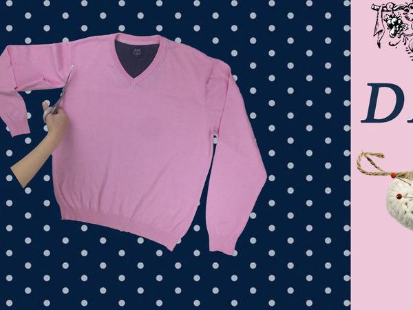 Перешиваем мужской джемпер в кофту поло   Ярмарка Мастеров - ручная работа, handmade
