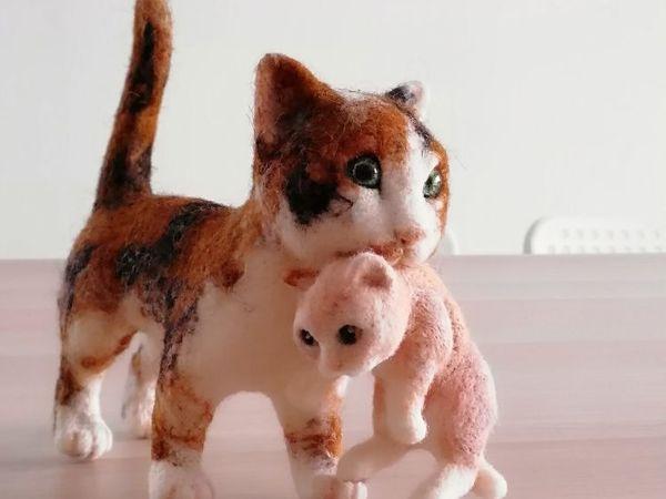 Курс  «Кошка с котёнком» | Ярмарка Мастеров - ручная работа, handmade