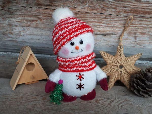 Делаем снеговика | Ярмарка Мастеров - ручная работа, handmade