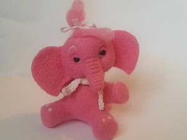 Мастер-класс: розовый слоник в технике сухого валяния | Ярмарка Мастеров - ручная работа, handmade