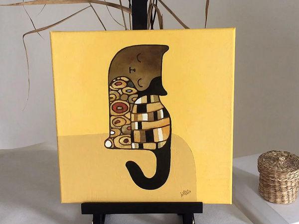 Кот в стиле модерн | Ярмарка Мастеров - ручная работа, handmade