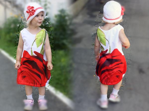 Шьем простое платье для девочки с цветочным принтом | Ярмарка Мастеров - ручная работа, handmade