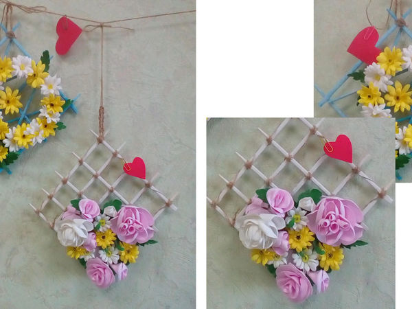 Создаем панно с цветами из фоамирана | Ярмарка Мастеров - ручная работа, handmade