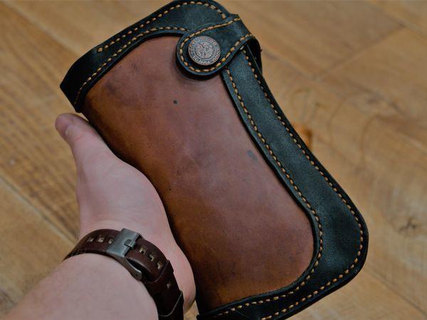 Шьем клатч из натуральной кожи | Ярмарка Мастеров - ручная работа, handmade