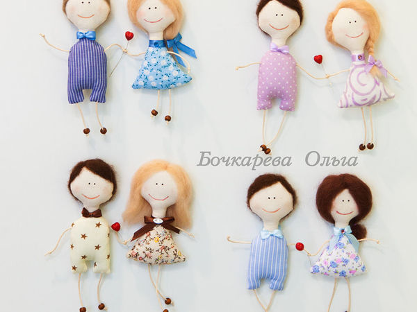 How to Make Textile Magnets, or Sewing a Couple of Lovebird Dolls | Livemaster - handmade