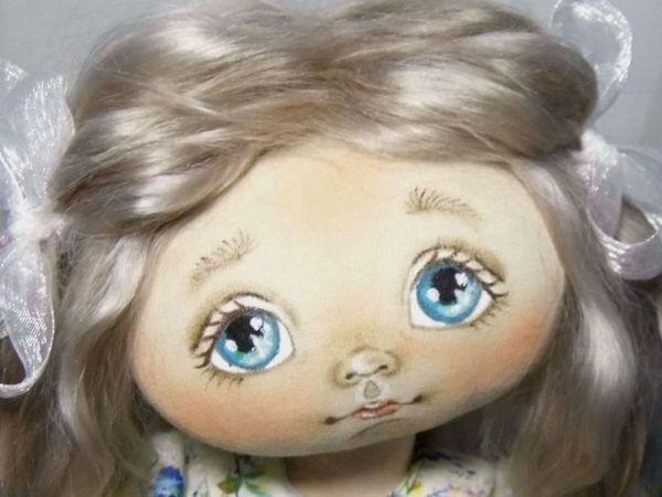 Как самостоятельно изготовить шаблон для прорисовки глазок текстильной куклы: видеоурок   Ярмарка Мастеров - ручная работа, handmade