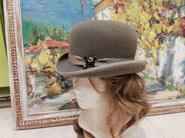 Мастер-класс  «Фетровая шляпа с полями» | Ярмарка Мастеров - ручная работа, handmade