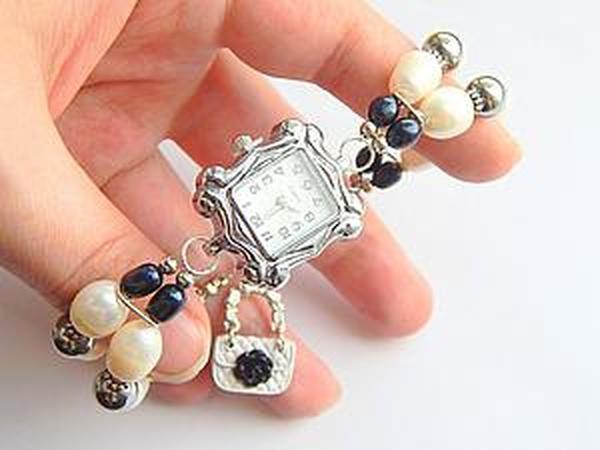 Мастер-класс: собираем часики с браслетом из жемчуга | Ярмарка Мастеров - ручная работа, handmade
