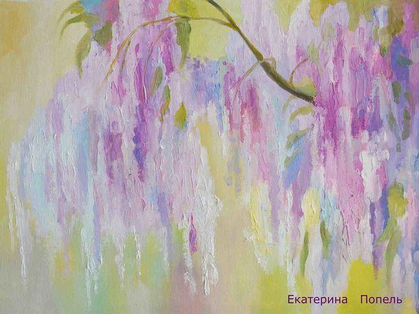 Пишем маслом картину «Весеннее настроение» | Ярмарка Мастеров - ручная работа, handmade