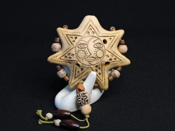 Окарина керамическая  «Звезда» . Образец звучания | Ярмарка Мастеров - ручная работа, handmade