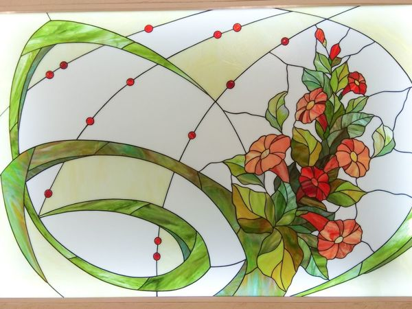 Создание витража  «Летний букет» | Ярмарка Мастеров - ручная работа, handmade