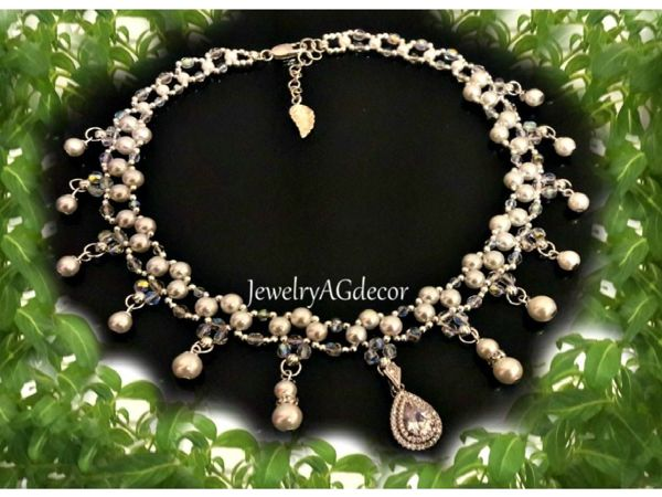 c1fce093744f0 Creating a Pearl Necklace with Pendants – tutorial for beginners and ...