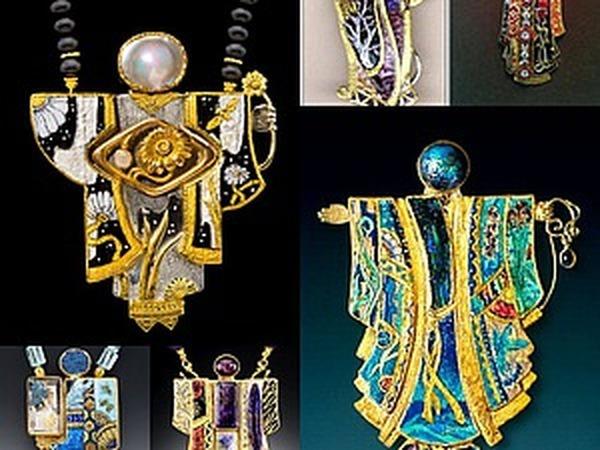 Фантастические эмали в ювелирных украшениях Мarianne Нunter | Ярмарка Мастеров - ручная работа, handmade