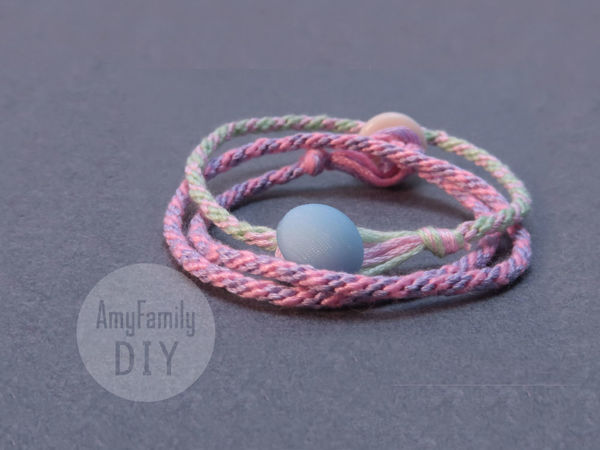 How to Weave Round Rope and Make Bracelet from It   Livemaster - handmade