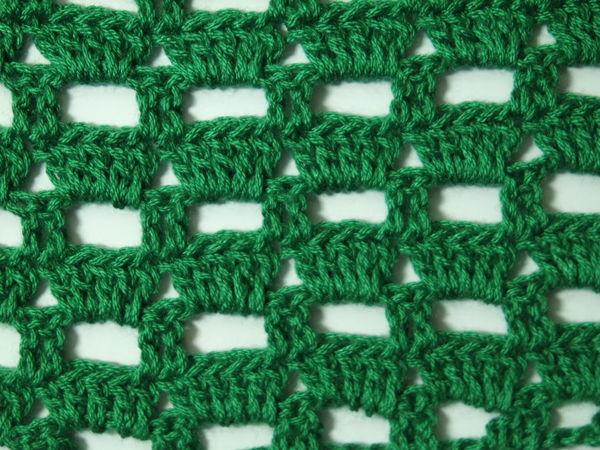 Простой узор для вязания крючком | Ярмарка Мастеров - ручная работа, handmade