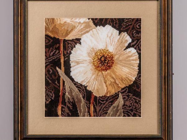 Триптих  «Белые цветы»   Ярмарка Мастеров - ручная работа, handmade