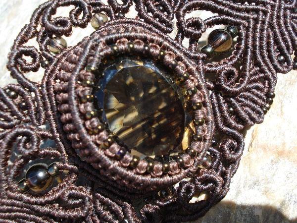 Комплект с  мистическим раухтопазом   Ярмарка Мастеров - ручная работа, handmade