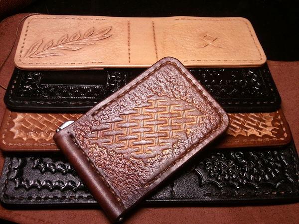 Как сделать зажим из кожи для купюр своими руками | Ярмарка Мастеров - ручная работа, handmade