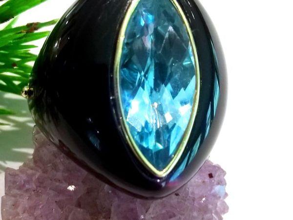 Видео кольца «Melody» топаз голубой,агат,золото 585 ручная работа | Ярмарка Мастеров - ручная работа, handmade