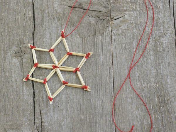 Как сделать соломенную звёздочку | Ярмарка Мастеров - ручная работа, handmade