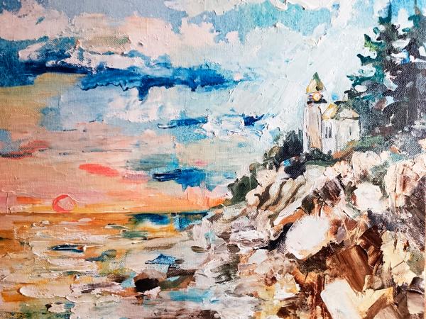Рисуем этюд маслом «Маяк» | Ярмарка Мастеров - ручная работа, handmade