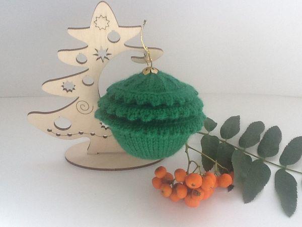 Вяжем новогоднюю игрушку «Ёлка» | Ярмарка Мастеров - ручная работа, handmade