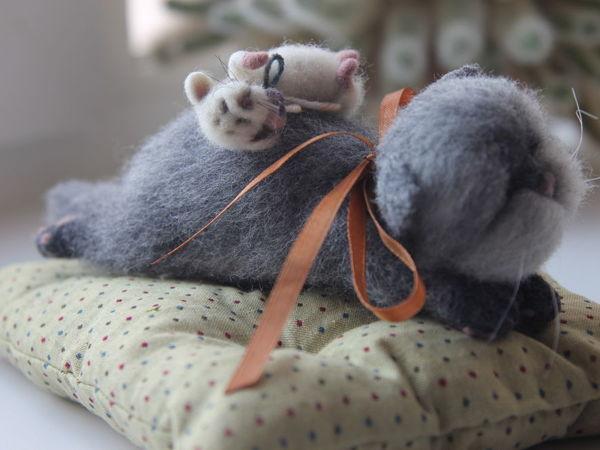 Новая парочка кот и мышка в магазине!   Ярмарка Мастеров - ручная работа, handmade