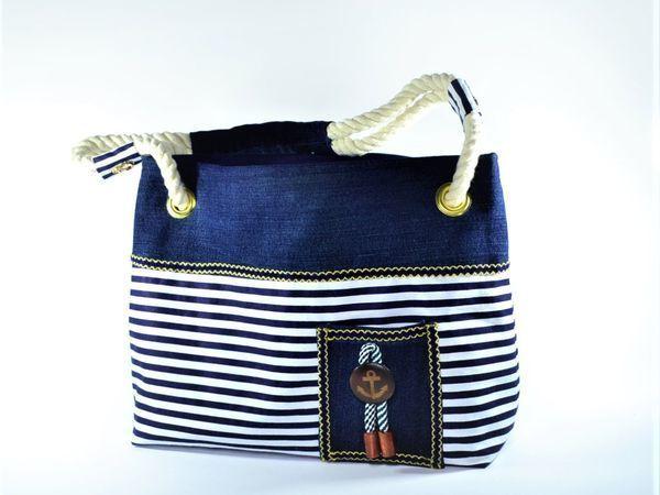 8aede1a24149 Шьем летнюю сумку в морском стиле | Ярмарка Мастеров - ручная работа,  handmade