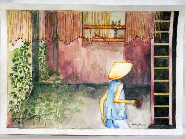 «Полдень в Сайгоне»   Ярмарка Мастеров - ручная работа, handmade
