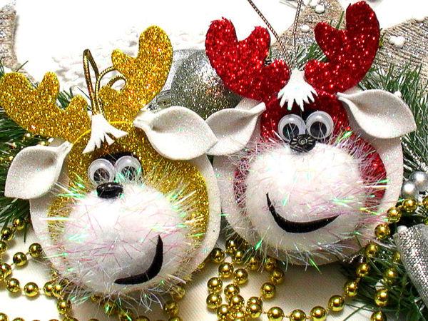Создаем новогодние игрушки из фоамирана   Ярмарка Мастеров - ручная работа, handmade